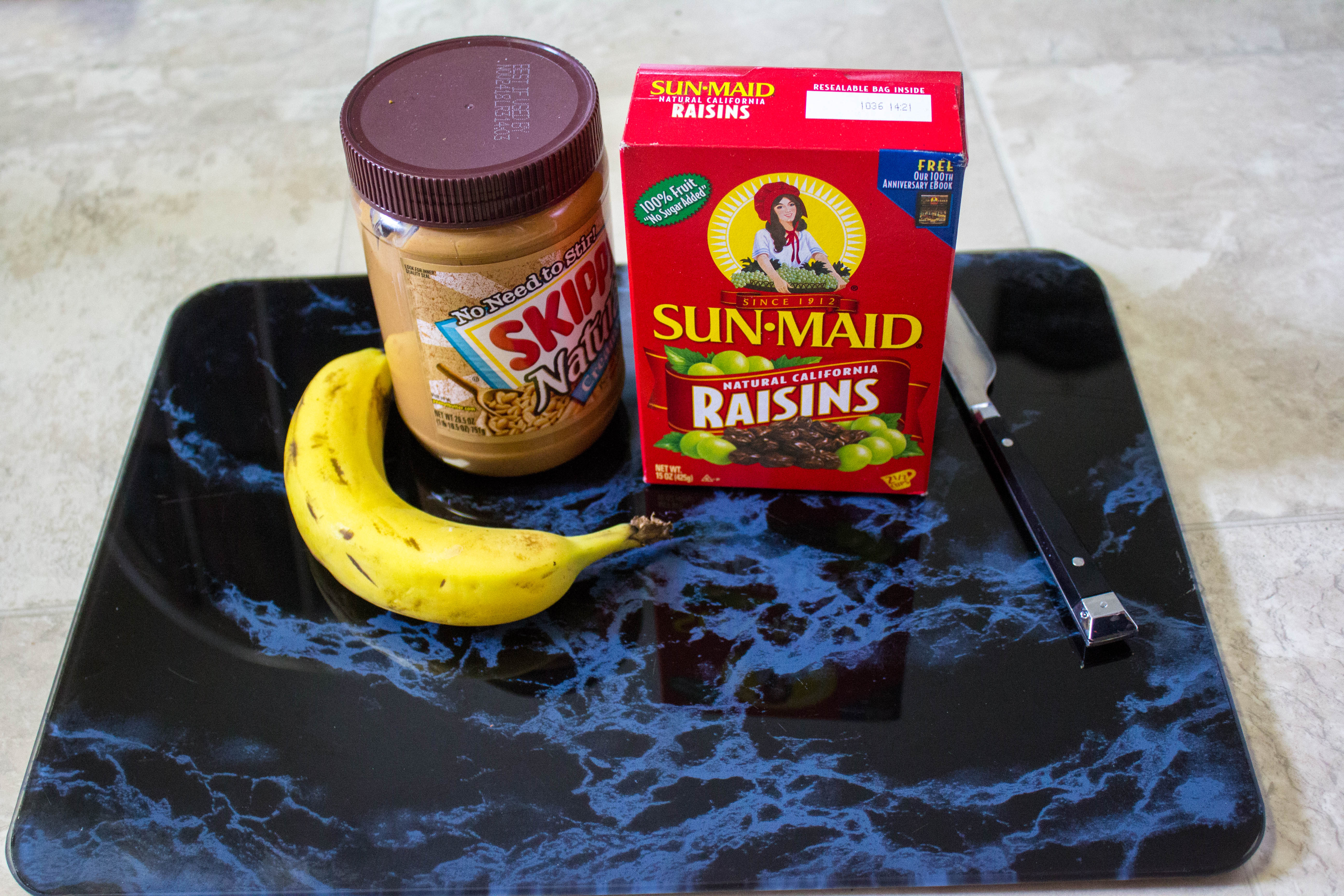 Looking for a healthy snack for kids? This simple to make delicious peanut butter raisin bananas will be a treat kids ask for.