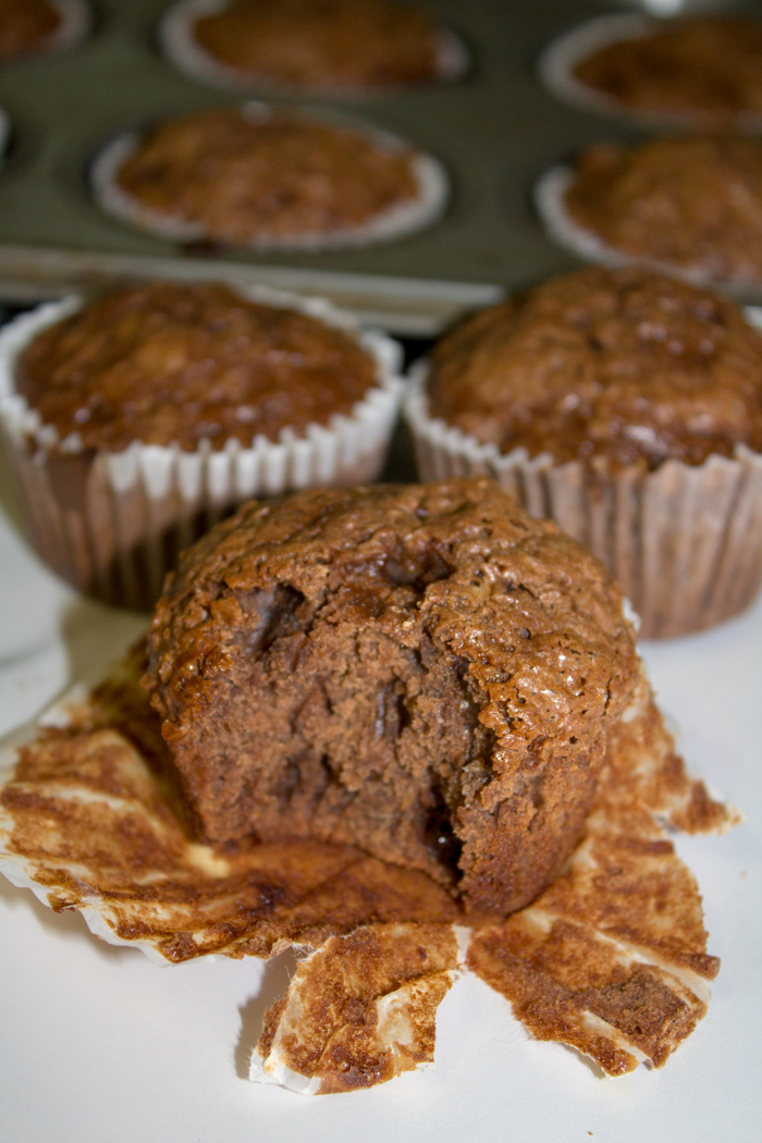 Chocolate Chocolate Chip Banana Bread Muffins Mama Loves To Eat