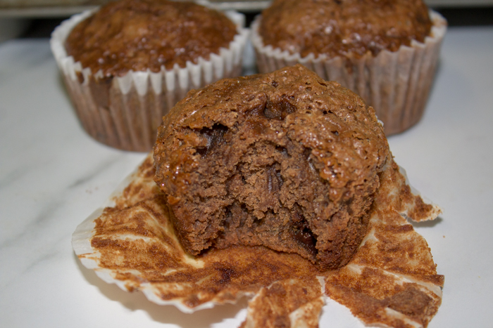 Love banana bread muffins? These chocolate chocolate chip banana muffins are so good, tasting like brownies. Enjoy these chocolate banana bread muffins.
