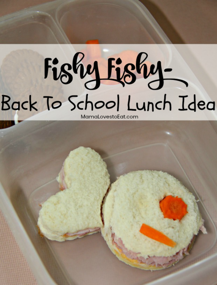 Back to school means packing lunch. Need a fun back to school lunch idea? Make a fish bento box. Simple and  Easy, even the most non-crafty mom can do it.
