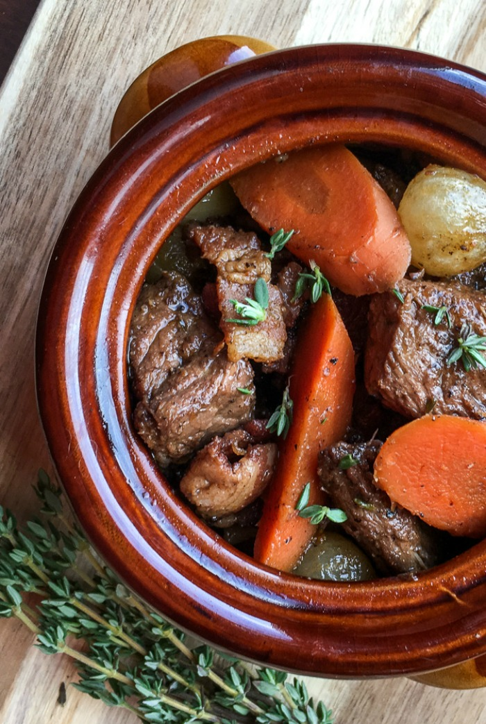 Do you love Braised Beef Burgundy Stew? Ready to make beef bourguignon at home? You are going to love this beef burgundy recipe.