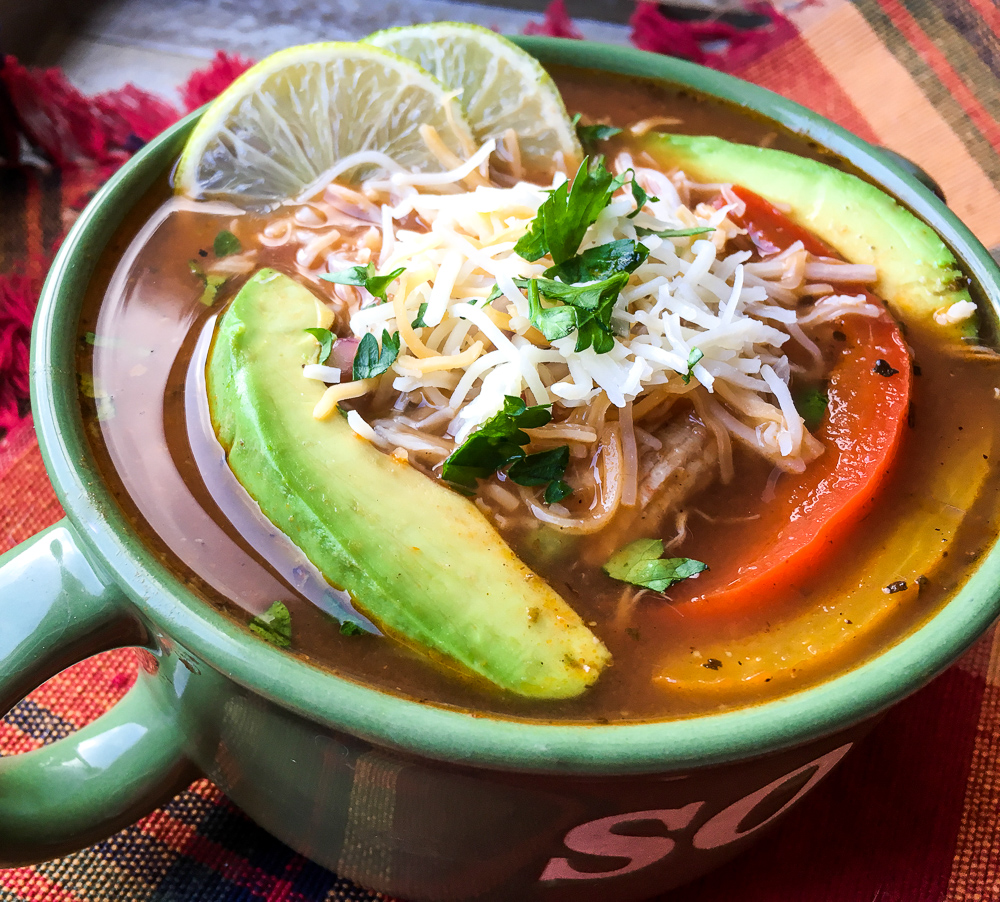 CHicken Fajita Soup made in the Instant Pot