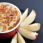 up close of caramel apple dip