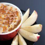 up close of caramel apple dip