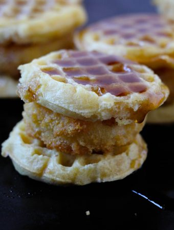 Want to know how to make Chicken and waffle slider at home? My chicken and waffle sliders are so good for game day snacks or as a fun dinner. No matter when you serve this chicken and waffles recipe, you can be sure everyone will love them.