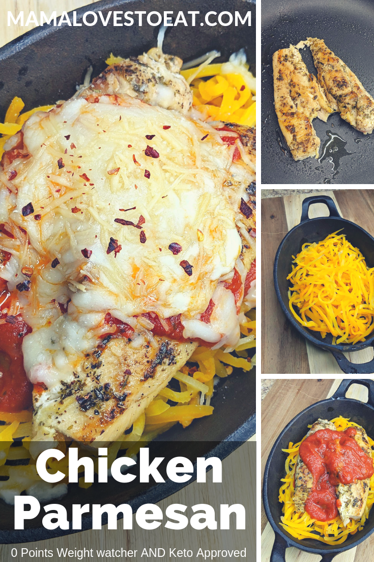Looking for keto chicken parm recipe? This Weight Watchers Chicken Parmesan recipe is a zero Weight Watcher point dinner. It is a healthy recipe everyone can enjoy.