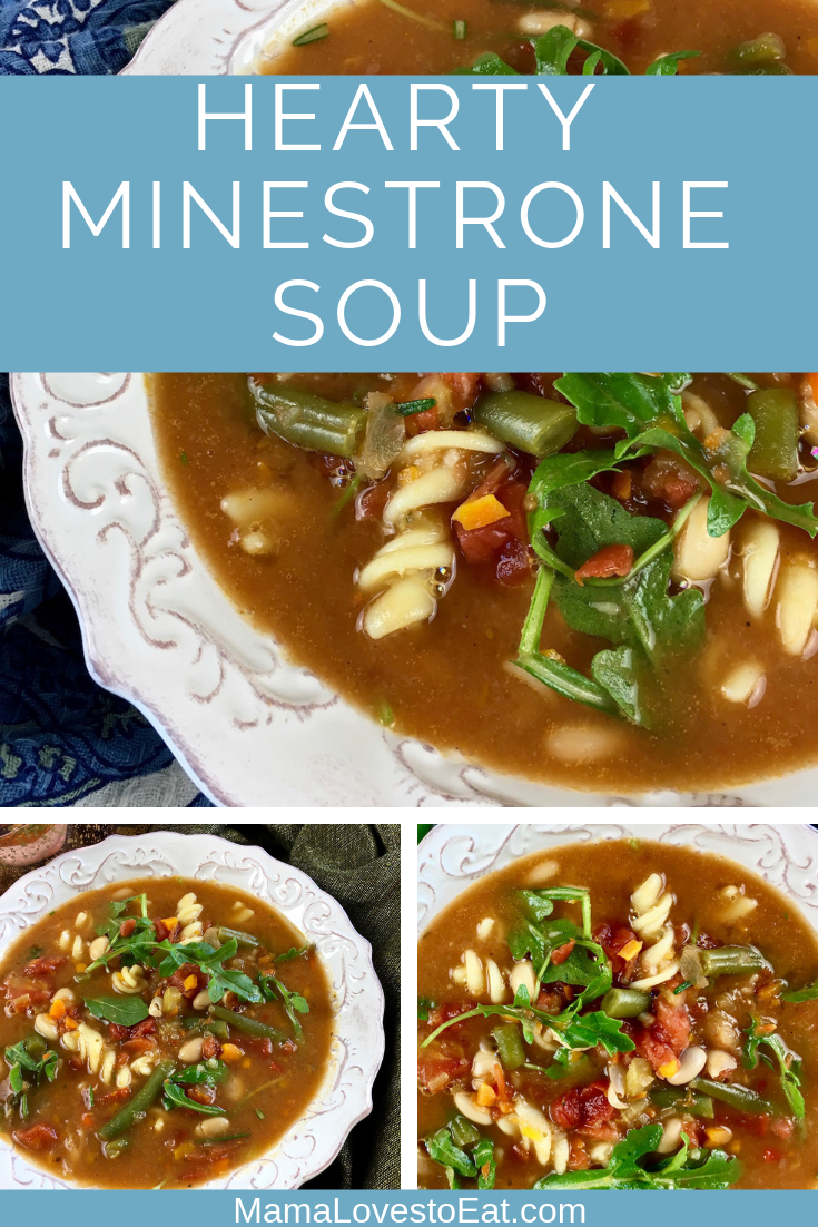 This hearty minestrone soup is a thick and rich soup recipe. It is filled with vegetables, spices, and tastes like Olive Garden Minestrone Soup. This is a minestrone soup recipe you will want to make again and again.