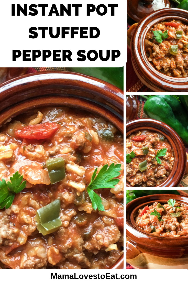 Are you craving warm soup on a cold day? This Instant Pot stuffed pepper soup has all of the flavors of stuffed peppers with a kick in a delicious soup.