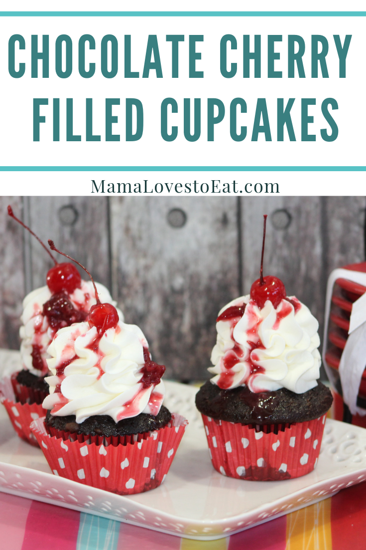 Looking for a chocolate cherry cupcake recipe? This chocolate covered cherry recipe is so good. This is the best chocolate cherry filled cupcake recipe ever.