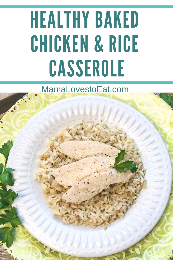 Looking for a delicious baked chicken and rice casserole recipe? This is an easy to make chicken and rice casserole that will be a simple weeknight dinner.