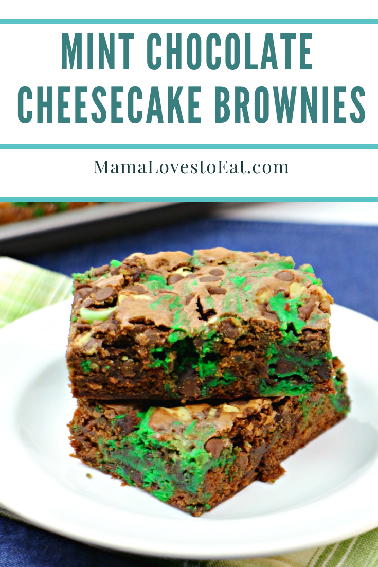 Mint and Chocolate go hand in hand. These chocolate mint brownies are a perfect treat. With mint swirls through the brownies, create these delicious brownies as St. Patrick's Day Brownies.