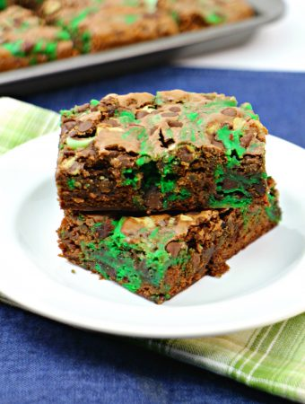 Mint Chocolate Cheesecake Brownies
