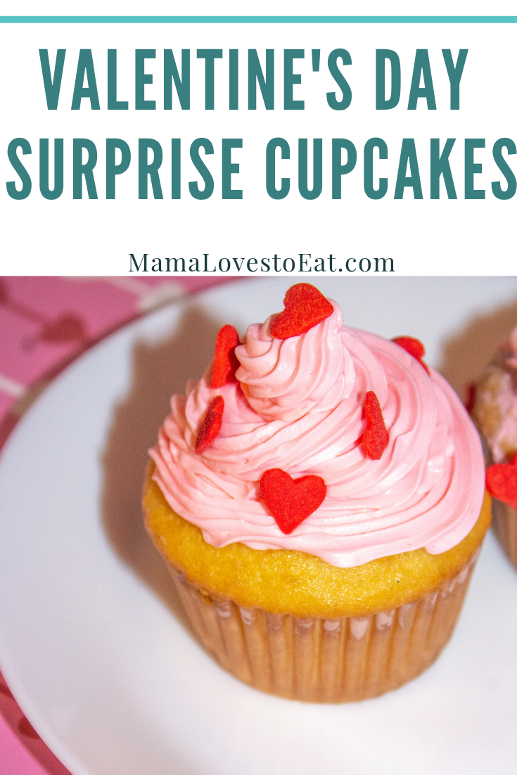 Looking for Valentine's Day Cupcake that will thrill the kids? These Valentine's Day Surprise Cupcakes will do exactly that. So easy to make, everyone will love the surprise inside.