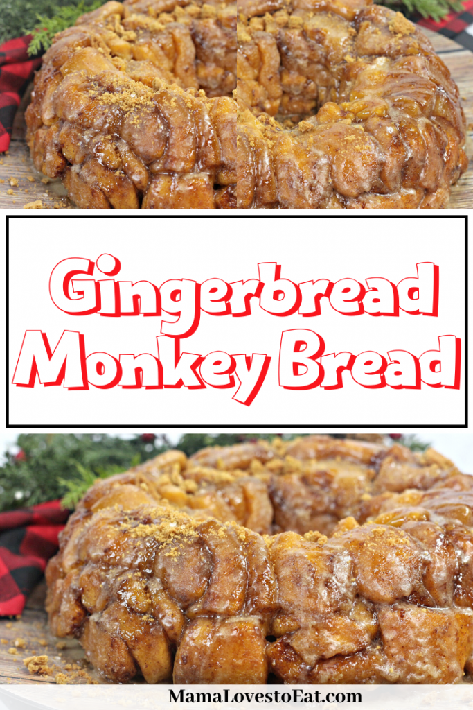 pinterest collage of gingerbread monkey bread