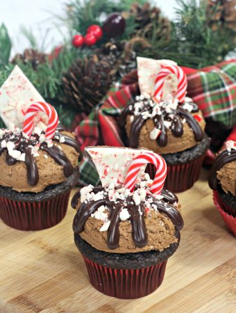 peppermint Bark cupcake