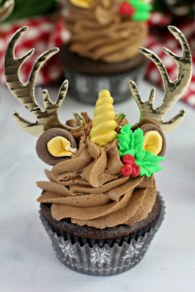 unicorn reindeer cupcakes