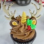 chocolate unicorn reindeer cupcake