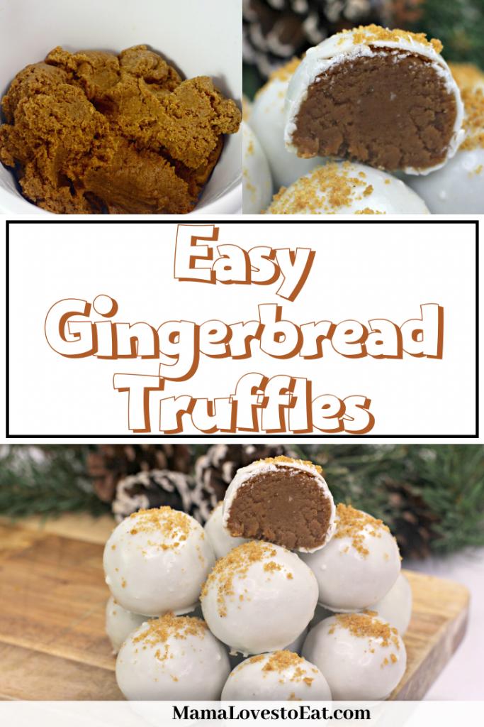 gingerbread truffles