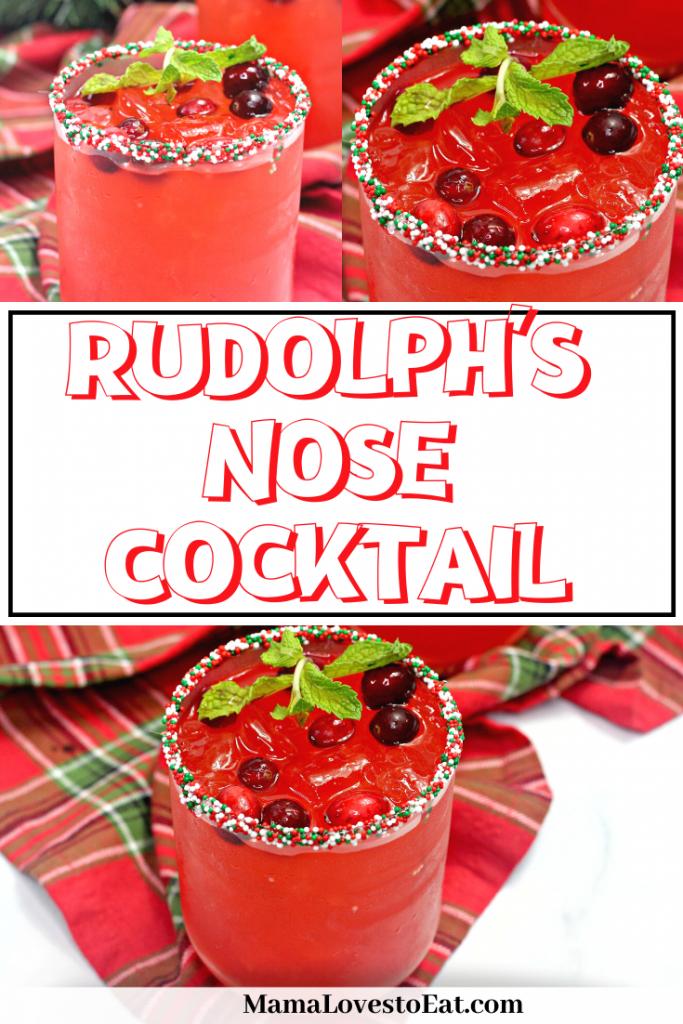 christmas themed cocktail