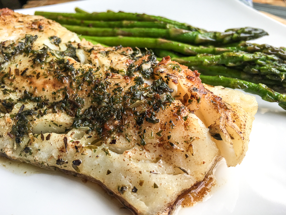 Keto Easy Cod recipe with Garlic Herb Butter