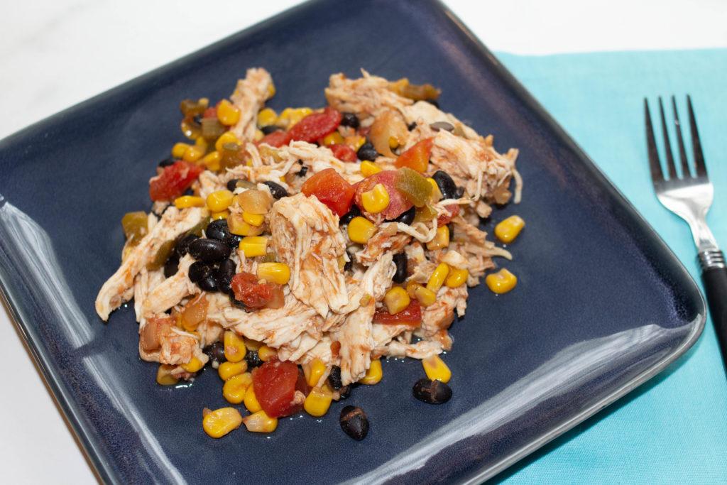 salsa chicken on a plate