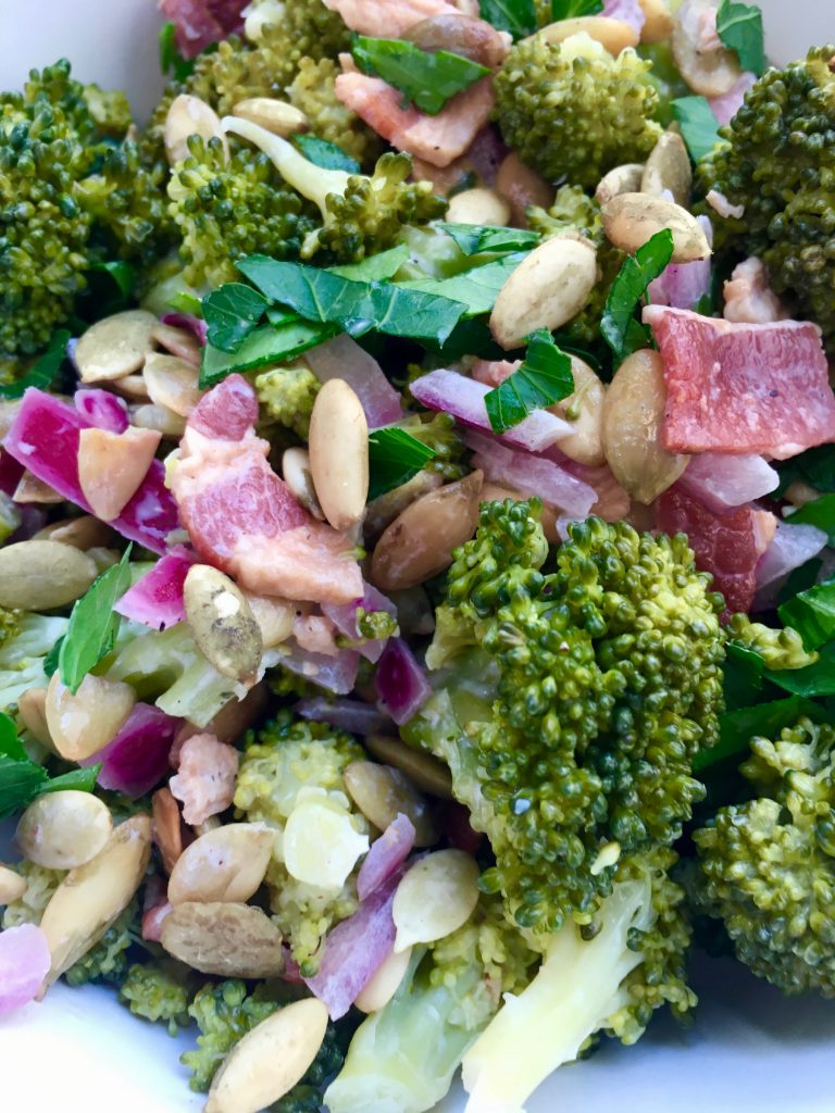 Broccoli Bacon Salad without Mayonnaise