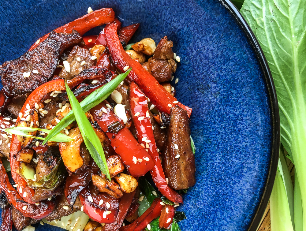 Keto Pork Stir Fry with Cashews