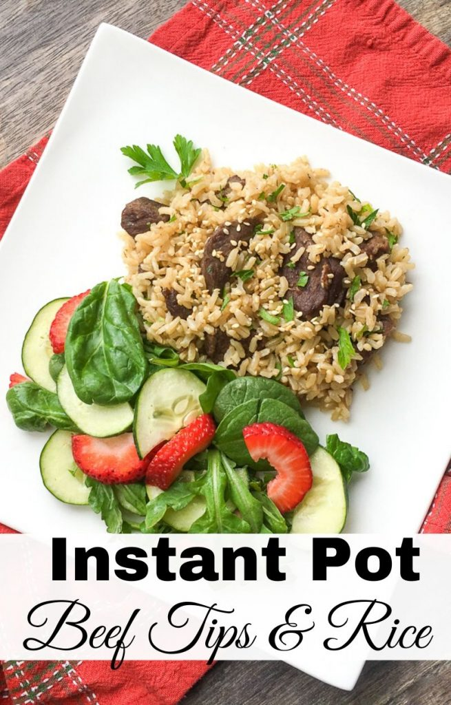 Instant Pot Beef Tips and Rice