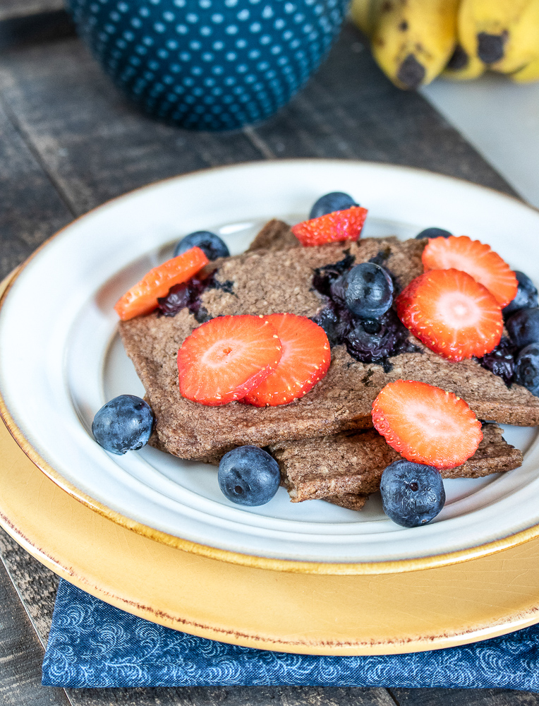 gluten free berry sheet pan pancakes