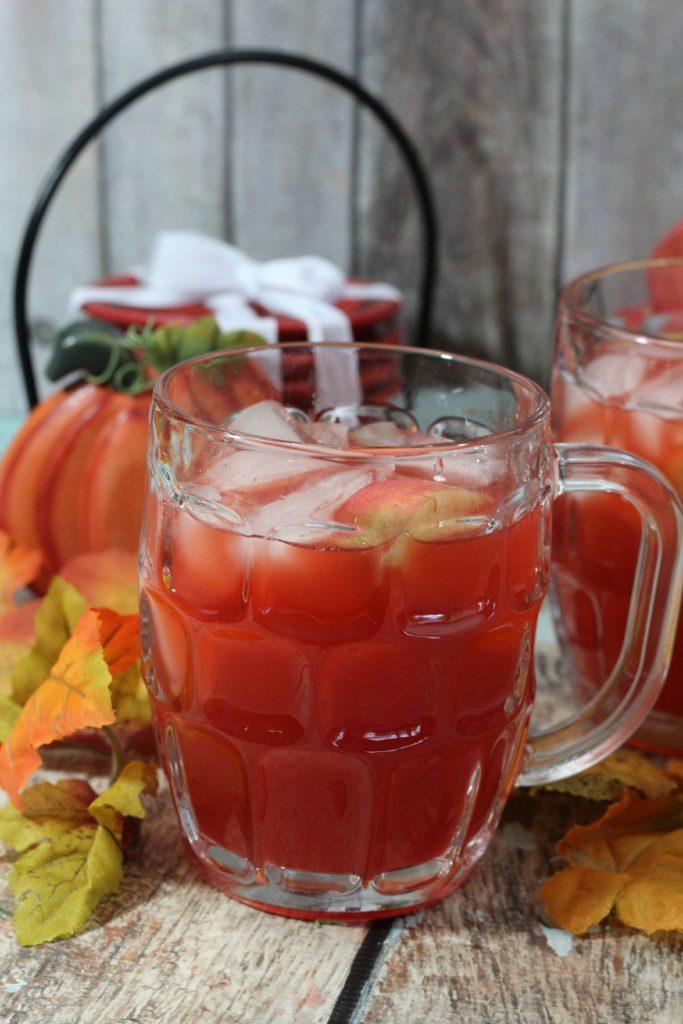 apple cider cocktail, spiced red apple cider