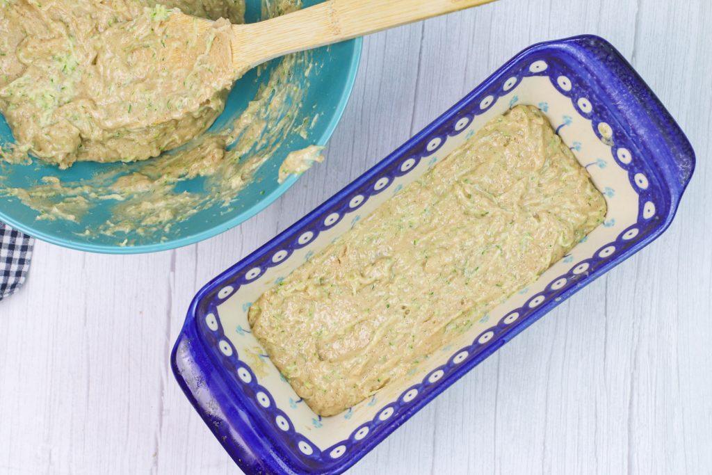 batter in a loaf pan